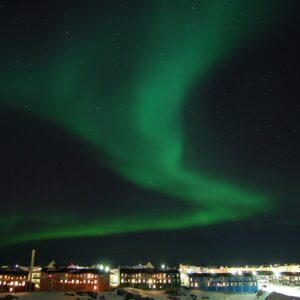 the northern lights, night, nuuk